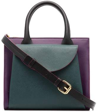 Marni Law top handle leather tote bag