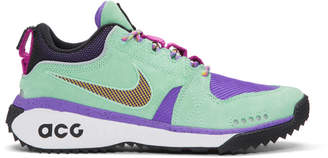 Nike ACG Green and Purple ACG Dog Mountain Sneakers