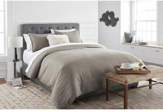 Threshold Herringbone Flannel Duvet Cover Set Tan