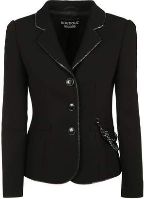 Moschino Chain-embellished Crepe Jacket