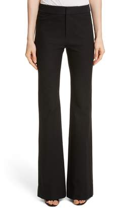Derek Lam 10 Crosby Flare Leg Stretch Cotton Pants