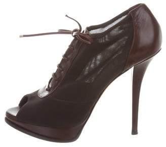 Christian Dior Platform Peep-Toe Booties