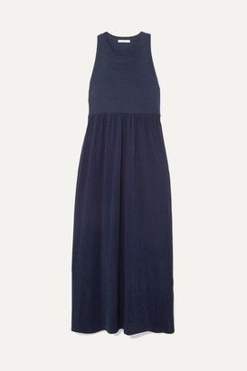 Ninety Percent Net Sustain Organic Cotton-jersey Maxi Dress - Navy