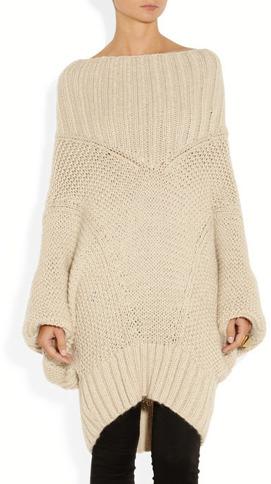Donna Karan Casual Luxe oversized merino wool and mohair-blend sweater