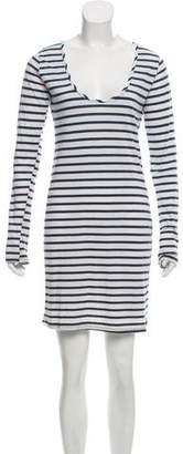 Nili Lotan Long Sleeve Scoop Neck Dress