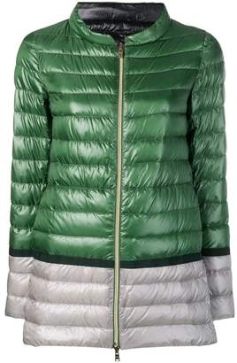 Herno colour-block puffer jacket