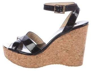 Jimmy Choo Crossover Patent Wedges
