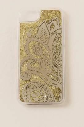 francesca's Gold Mandala iPhone 6/7/8 Waterfall Glitter Case