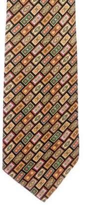 Stefano Ricci Geometric Print Silk Tie