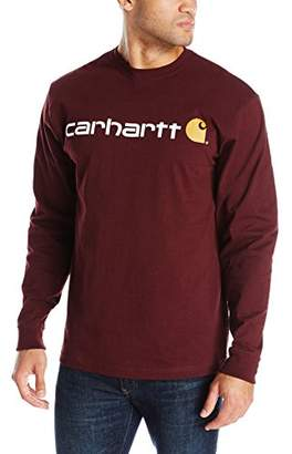 Carhartt Men's Signature Logo Midweight Jersey Long Sleeve T-Shirt