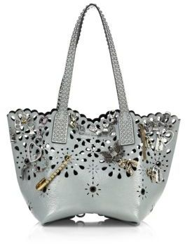 Marc Jacobs Embellished Laser-Cut Leather Tote $950 thestylecure.com