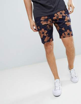 New Look Shorts With Floral Print In Black