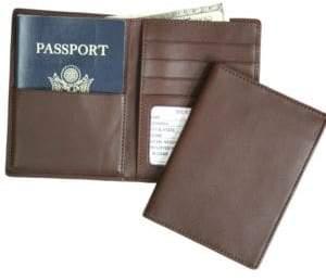 Royce Handcrafted RFID Blocking Bi-Fold Passport Currency Travel Wallet