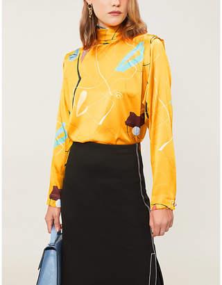 Roksanda Aluna abstract-print silk blouse