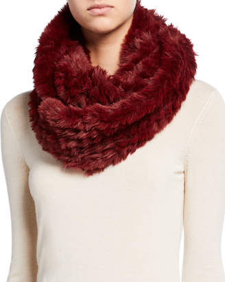 La Fiorentina Knitted Faux-Fur Infinity Scarf