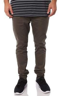 Zanerobe New Men's Unblockshot Mens Chino Pant Cotton Elastane Green