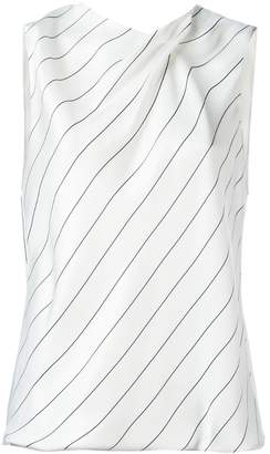 Giorgio Armani striped sleeveless top