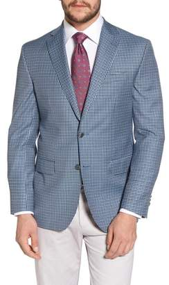 David Donahue Arnold Classic Fit Check Wool Sport Coat