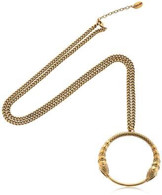 Roberto Cavalli Snake Pendant Necklace