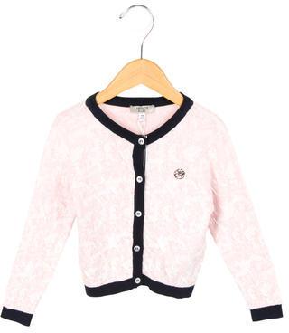Armani JuniorArmani Junior Girls' Printed Button-Up Cardigan w/ Tags