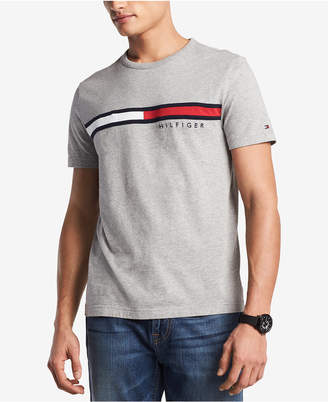 Tommy Hilfiger Men's Big & Tall Embroidered Logo T-Shirt, Created for Macy's