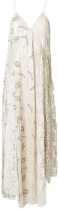 Cavallini Erika lace-panelled printed dress
