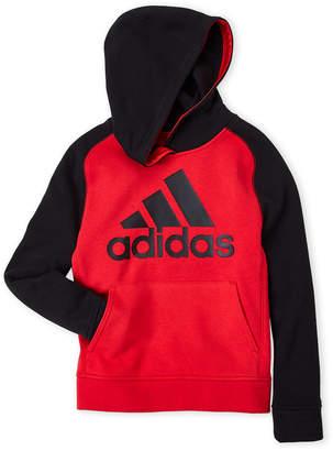 adidas Boys 8-20) Raglan Logo Pullover Hoodie