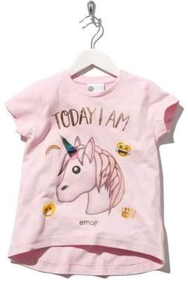 M&Co Unicorn Emoji print t-shirt