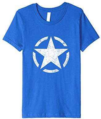 Distressed Vintage WWII US Army Star T Shirt