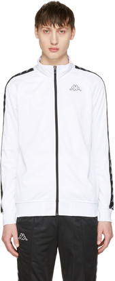 Kappa White Banda Aniston Track Jacket $100 thestylecure.com