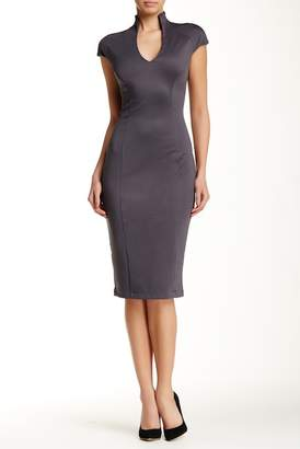 Alexia Admor V-Neck Midi Dress $245 thestylecure.com