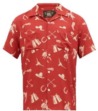 Ralph Lauren RRL Western Print Short Sleeved Shirt - Mens - Red Multi