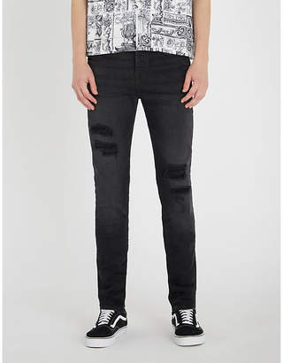 True Religion Rocco relaxed-fit distressed skinny jeans