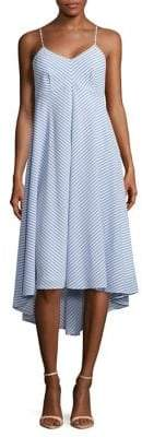 Taylor Striped High-Low Dress