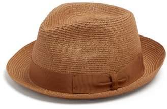 Borsalino Block Colour Panama Hat - Mens - Tan