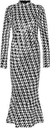 Rachel Gilbert Emory Sequined Crepe Midi Dress