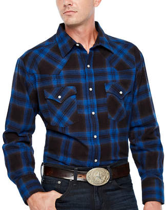 Ely Cattleman Long Sleeve Brawny Snap Flannel