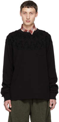 Sacai Black Embroidered Long Sleeve T-Shirt