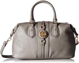 Tommy Hilfiger Bags for Women, Jaden Handbag Convertible Top Handle Bag, BLACK PVC