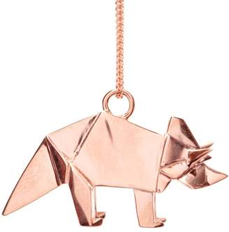 Origami Jewellery Triceratop Necklace Rose Gold