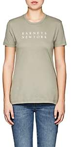 Barneys New York Women's Logo Pima Cotton T-Shirt - Dk. Green