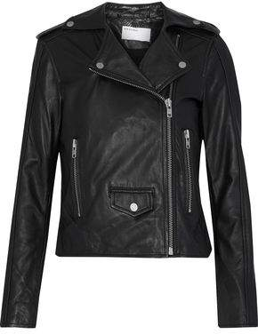 Muu Baa Muubaa Suede-Paneled Leather Biker Jacket
