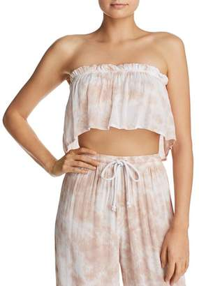 Tiare Hawaii Flutter Strapless Cropped Top