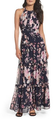 Women's Eliza J Floral Halter Maxi Dress $158 thestylecure.com