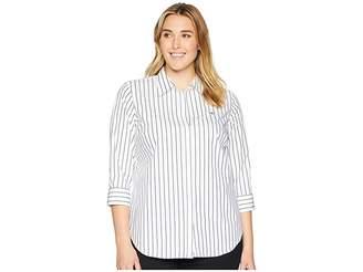 Lauren Ralph Lauren Plus Size No-Iron Button-Down Shirt