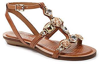 Gianni Bini Pia Jeweled T-Strap Wedge Sandals