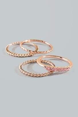 francesca's Sharon Ring Stack - Rose/Gold