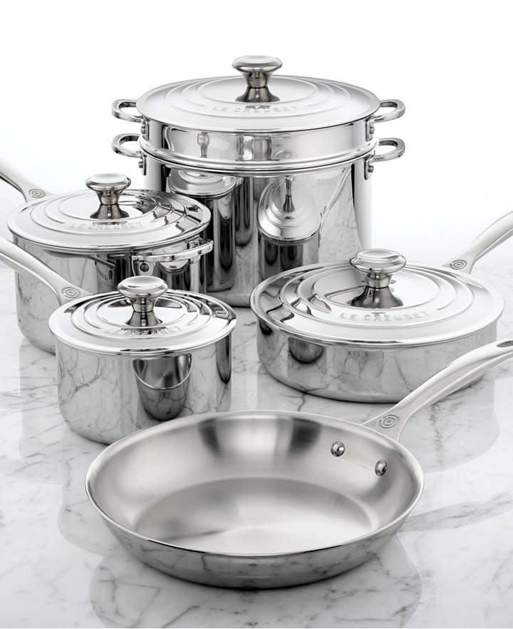 Le Creuset Stainless Steel 10 Piece Cookware Set