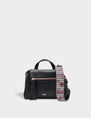 Hogan Horizonal Mini Tote Bag in Black Grained Calfskin