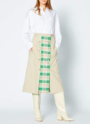 Tibi Hani Plaid Trench Skirt